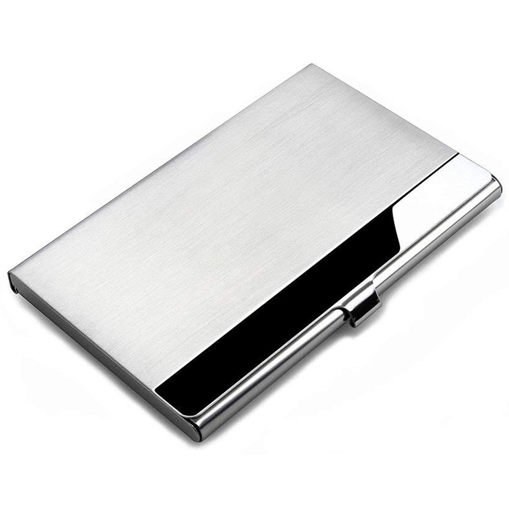 MROCO Professional Metal Business Card Holder Pocket Business Card Case Business Card Wallet Business Card Carrier, Keep Business Cards in Immaculate