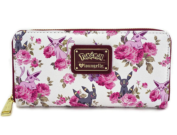 Loungefly x Pokemon Espeon Umbreon Floral Zip-Around Wallet