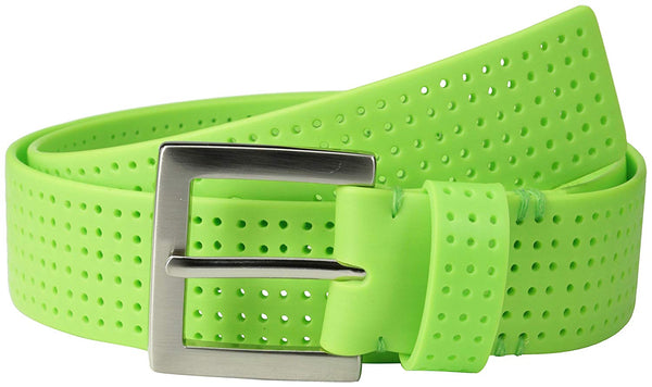 PGA TOUR Men's Perforated Fashion Color Silicone Belt