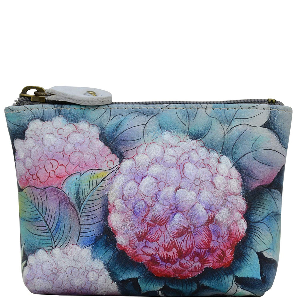 Anuschka Women's Leather Coin Purse | Genuine Soft Leather | Hand-painted Original Art