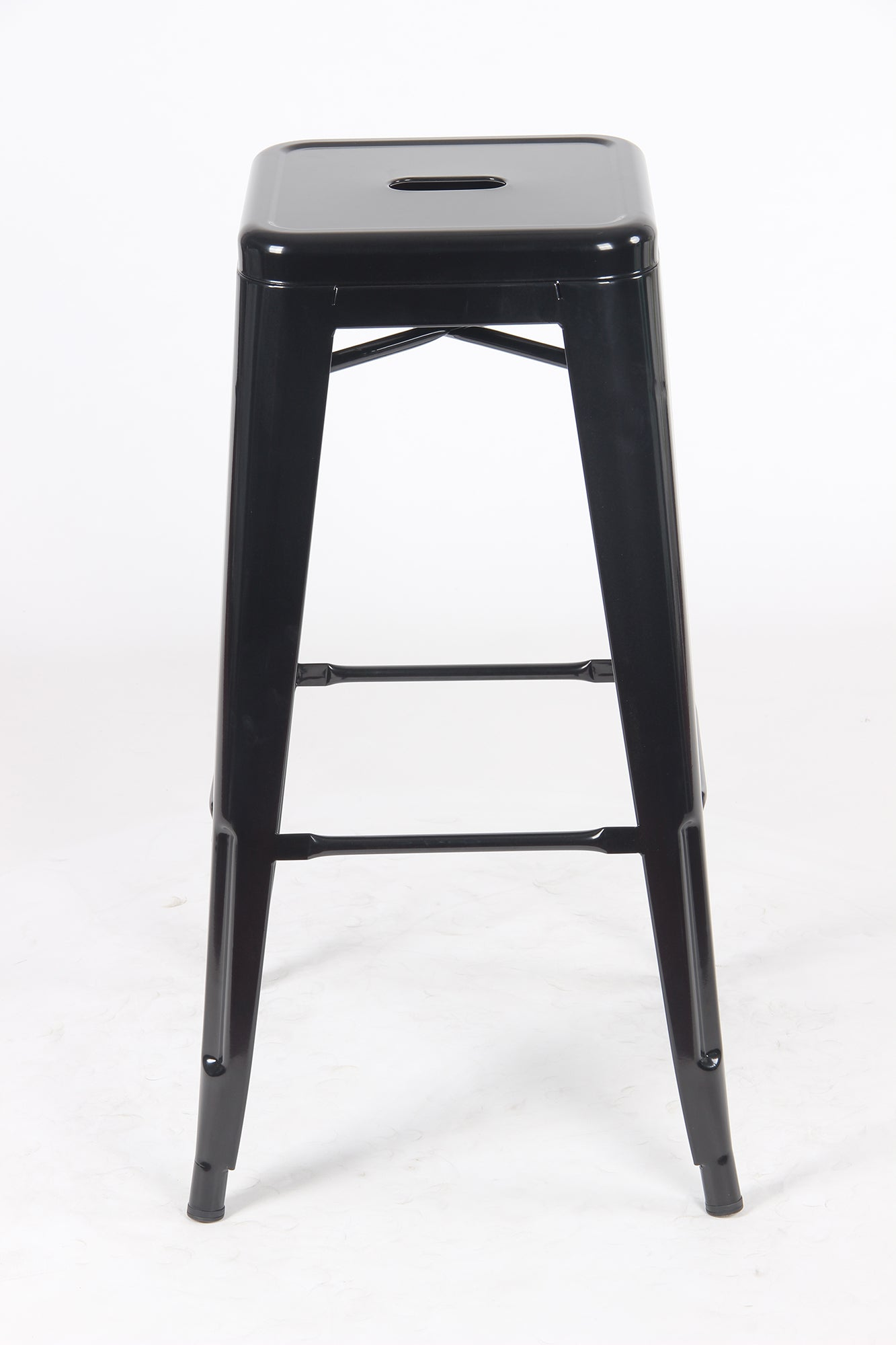 Sgabello Metal Stool - Black - BAANJA.CO.UK