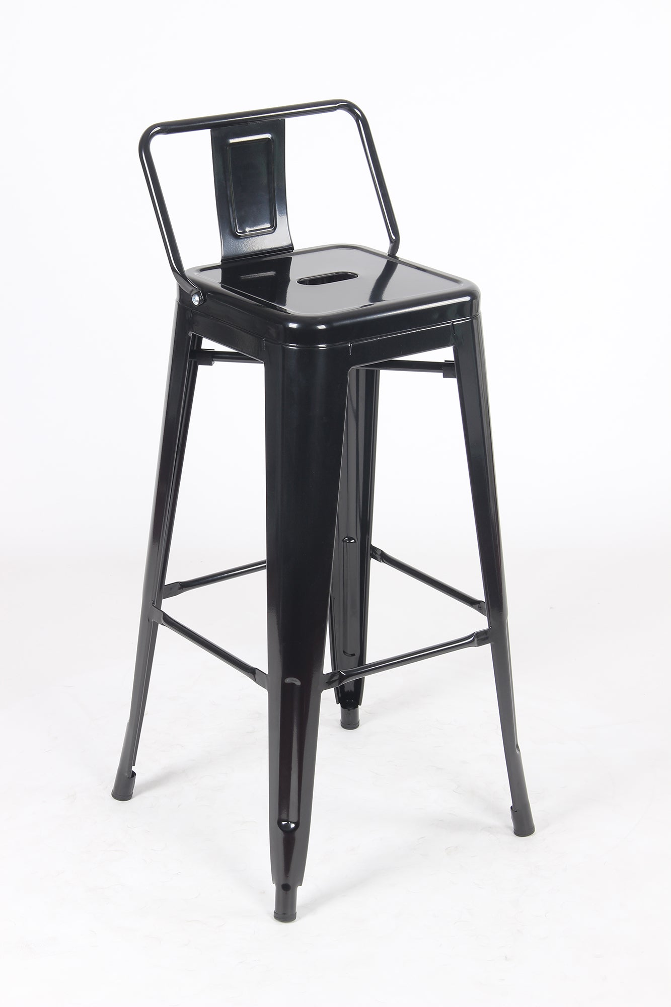 Sgabello Due Metal Stool - Black