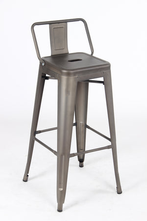 Sgabello Due Metal Stool - Gunmetal