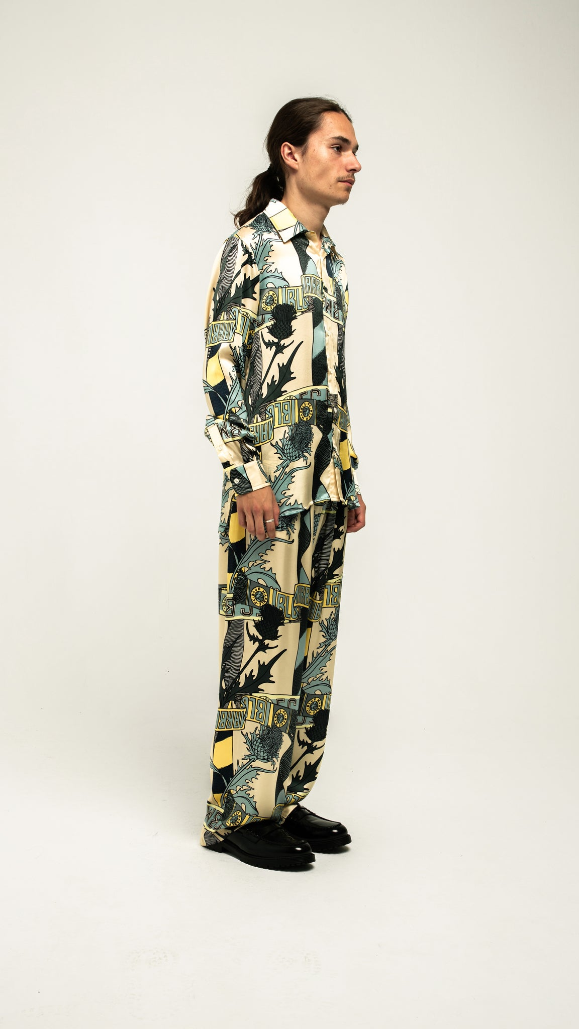 Printed Silk pyjamas Pants (4578483634241)