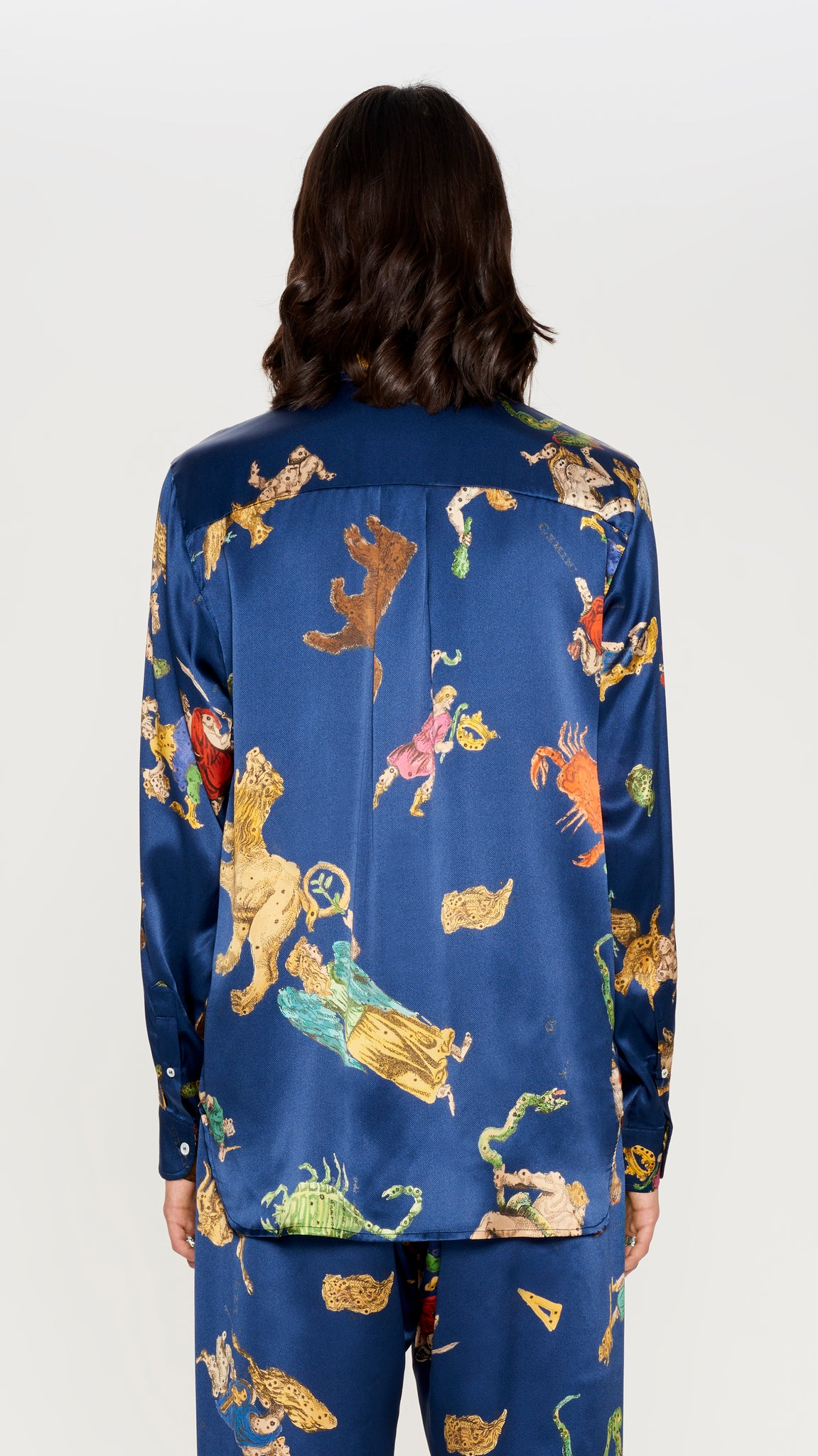 Deep blue astro silk shirt (4560912908353)