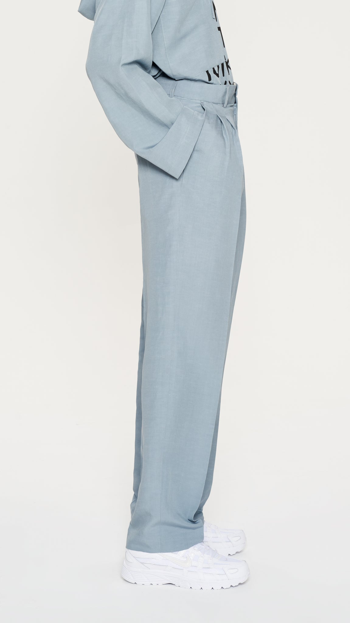 Light Blue linen pants (4404237271105)