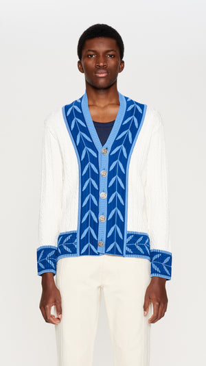 Ivory cable knit cardigan (4392582381633)