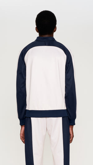 Navy & ivory poly track jacket (4405534064705)