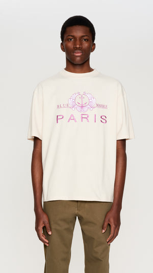 Ivory embroidered t-shirt