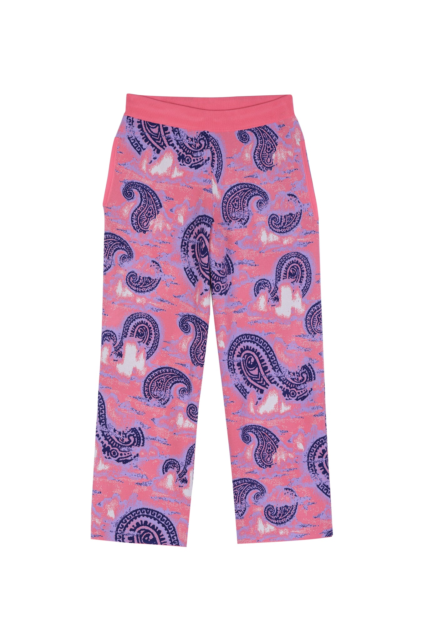 Pink Knitted Jackard Pants