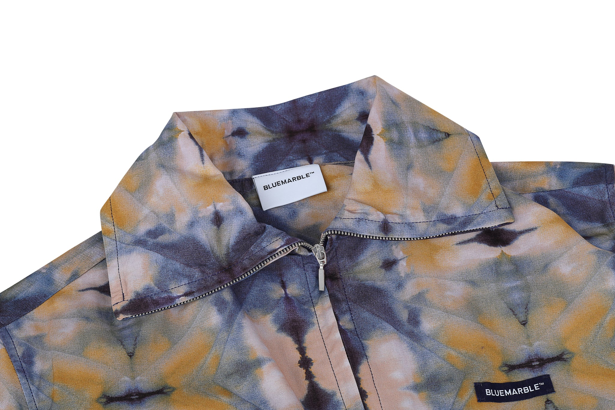 Chemise Popelin Shortsleeve Tie and Dye Cotton