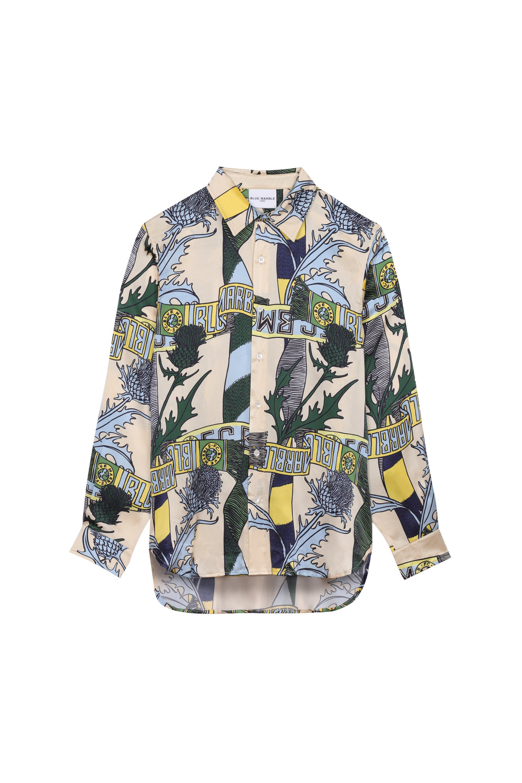 Printed Silk Shirt (4578155266113)