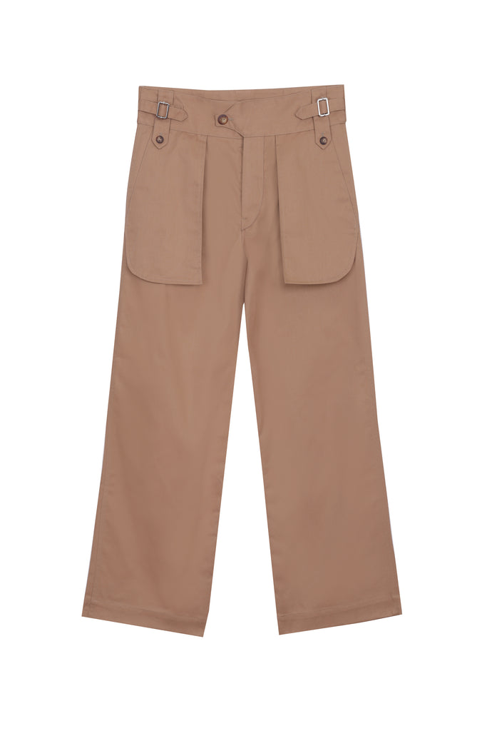 Multi Pocket Gabardine Pants (4578487107649)