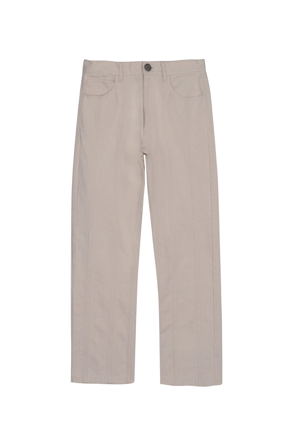 Ivory multipanel denim pants (4387469918273)