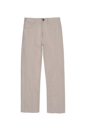 Ivory multipanel denim pants