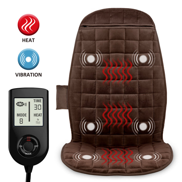 COMFIER Heated Car Seat Cover with Massage,3 Fast Heating Pads & 6 Vibration Motors-2503