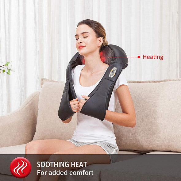 Comfier Shiatsu Back Neck Massager with Heat - 6302
