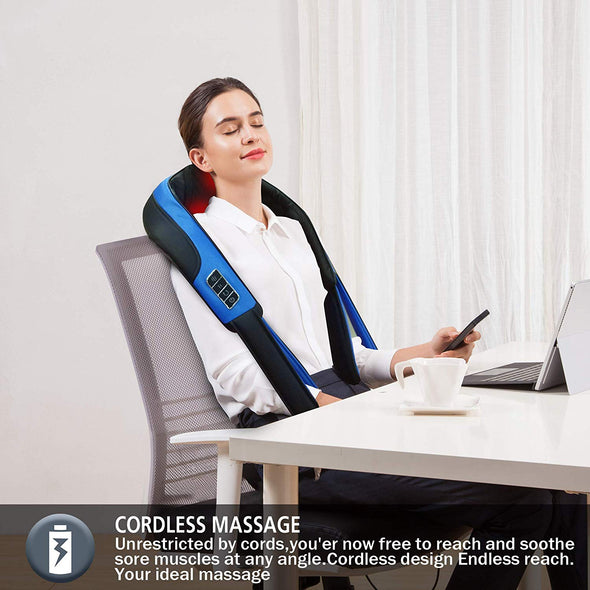 Comfier Cordless Neck Massager with Heat - 6701