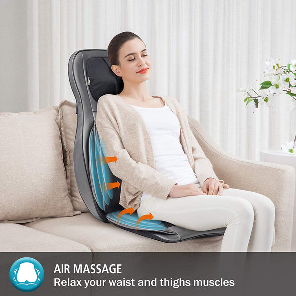 Comfier Adjustable Air Compress & Shiatsu Neck & Back Massager with Heat