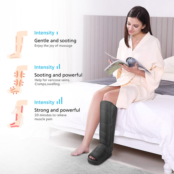Cordless Air Compression Foot & Leg Massager- 5812