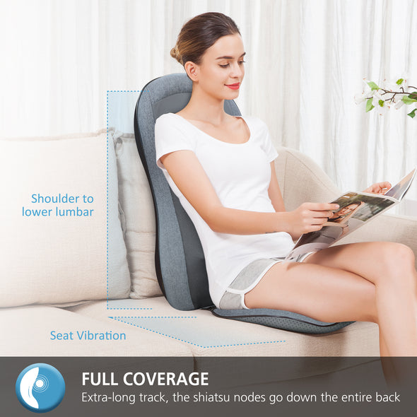 Comfier Full Back Massager with -2D/3D Shiatsu & 10 Massage Nodes - 2913