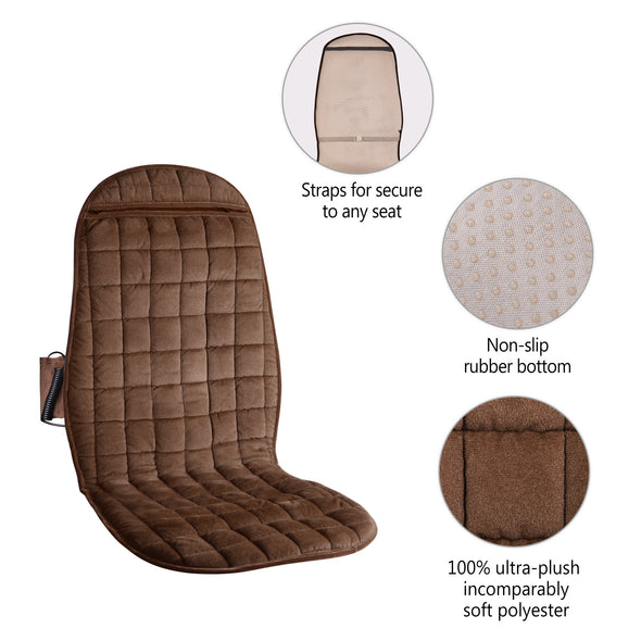 COMFIER Heated Car Seat Cover with Massage,3 Fast Heating Pads & 6 Vibration Motors - 2503