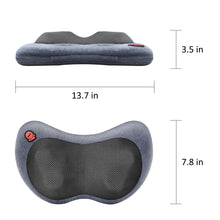 Load image into Gallery viewer, Comfier Neck and Back Massager with Heat-Shiatsu Massage Pillow