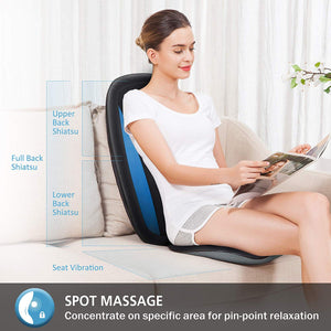 Comfier Shiatsu Back Massager with Heat -Deep Kneading Massage Seat Cushion