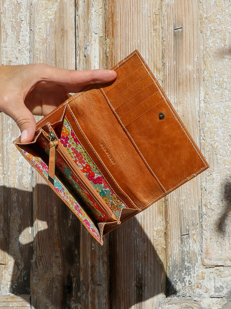 Anna cuir antique - camel