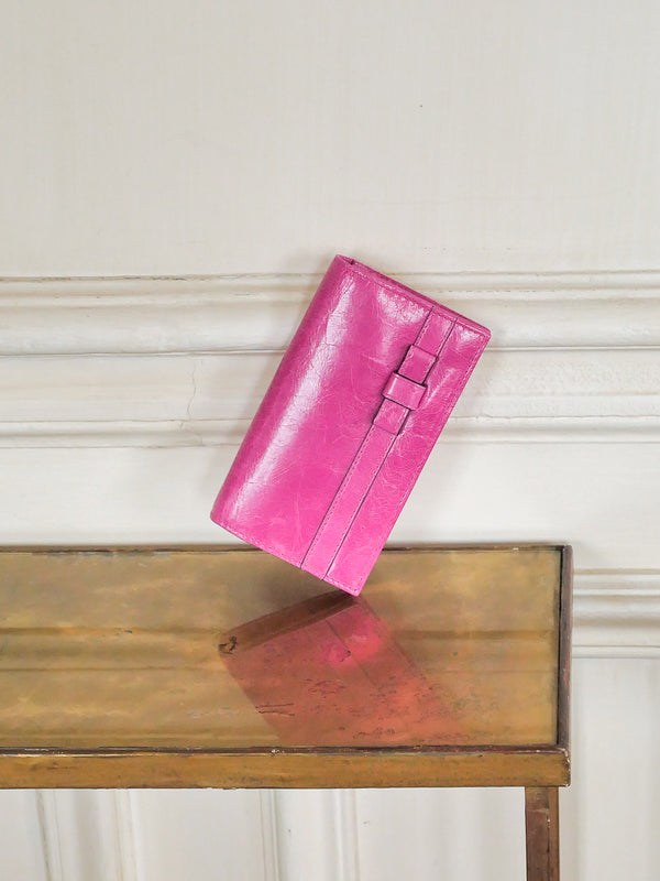 Anna cuir antique - hot pink