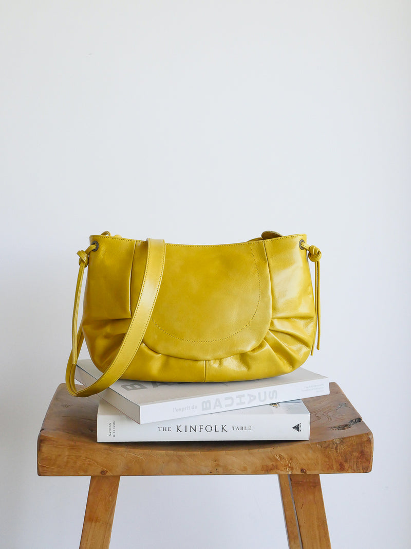 Carlotta cuir antique - jaune