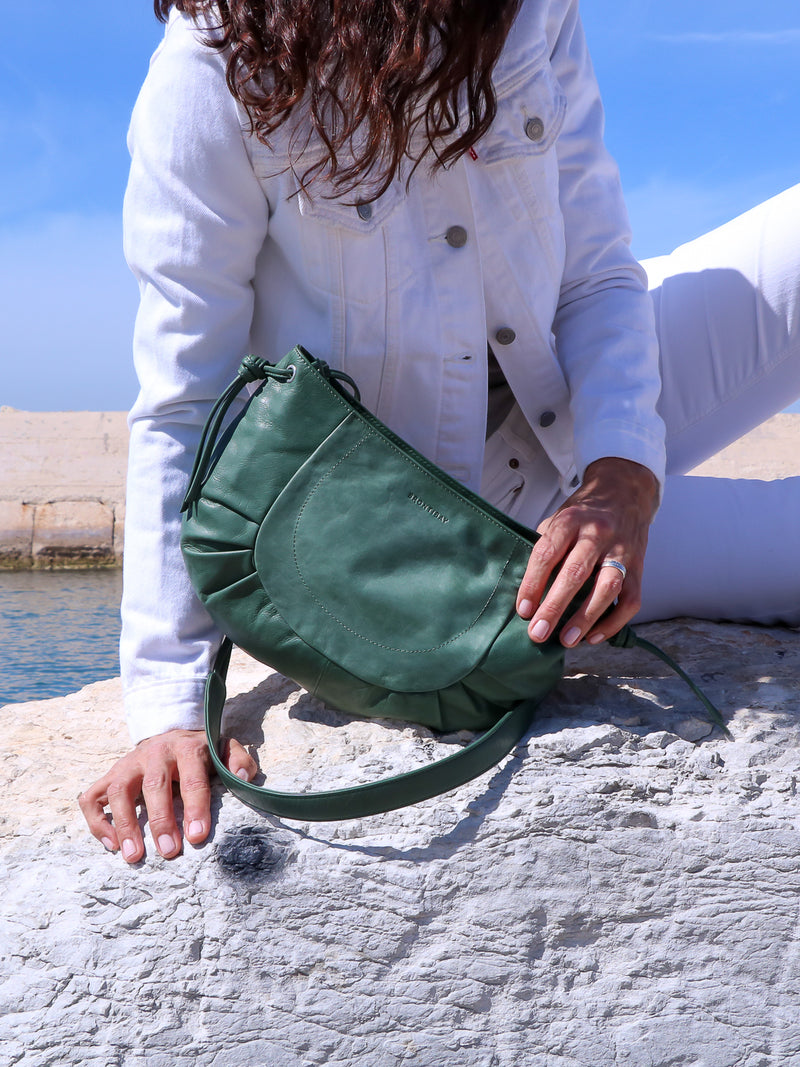 Carlotta cuir tantra - Sea Green