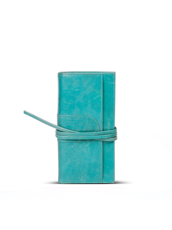 Constantinople cuir antique - Turquoise