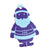 Blue Novelty Christmas Santa Tag