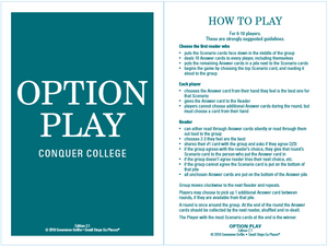 Option Play : Conquer College