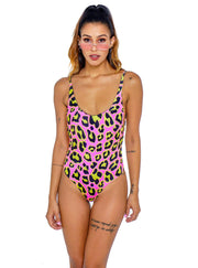 ENTERIZO ESCOTE SISA LEOPARDO TOWERS SWIMWEAR