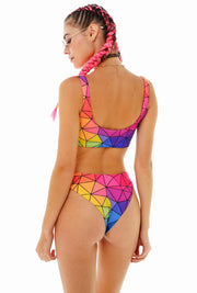 ASYMMETRIC COLORS BIKINI SET
