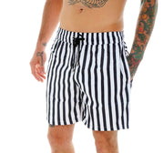 BLACK LINES SWIM SHORTS