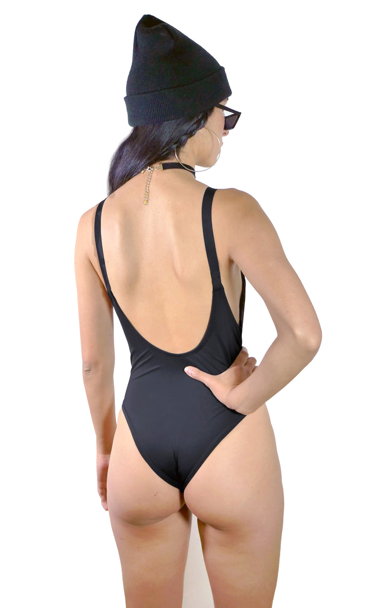 GLOW IN THE DARK SKELETON ONE PIECE SWIMSUIT