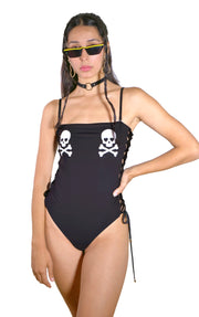GLOW IN THE DARK SKULLS SWIMSUIT