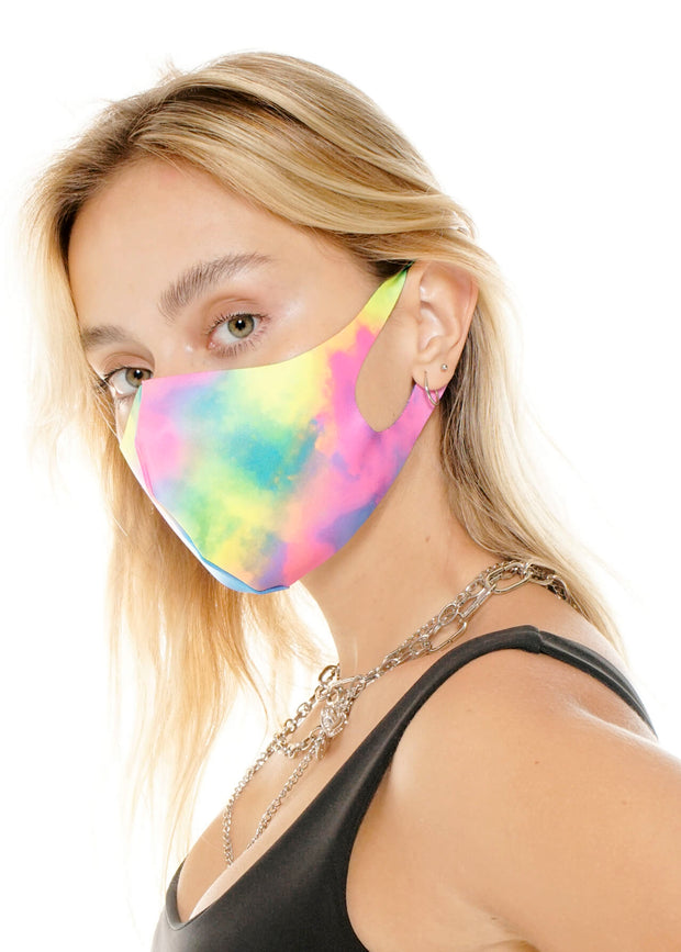FACEMASK NEON CLOUDS