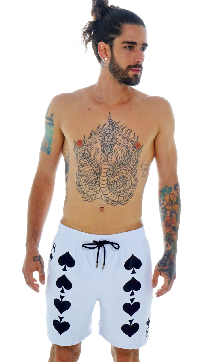 POKER SWIM SHORTS