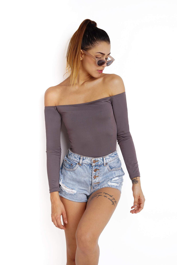 GRAY 90´S BODYSUIT