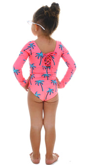 NEON PALM TREES SWIMSUIT GIRL