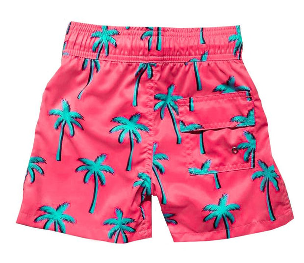 NEON PALM TREES SWIM SHORTS BOY