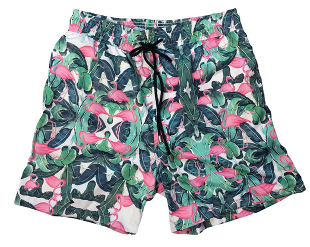 FLAMINGOS SWIM SHORTS