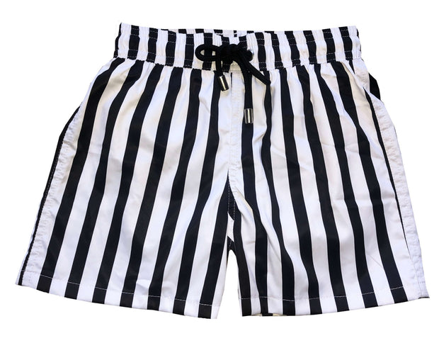 BLACK LINES SWIM SHORTS BOY
