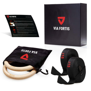 VIA FORTIS Premium Gym Rings aus Holz