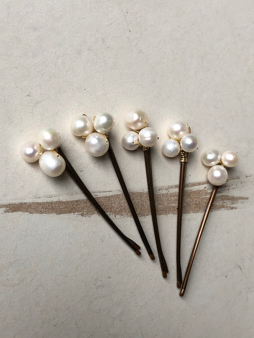 Pearl Bobby Pins (3+) | Casual Hair Accessories, Fancy Bobby Pins, Pearl Hair Accessory