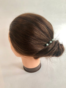 Set of Light Blue Pearl Hair Pins (3+) | Something Blue Hair Pins, Bridal Pearl Pins, Wedding Hair